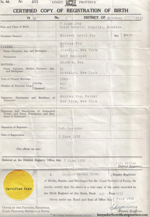 Birth certificate 2